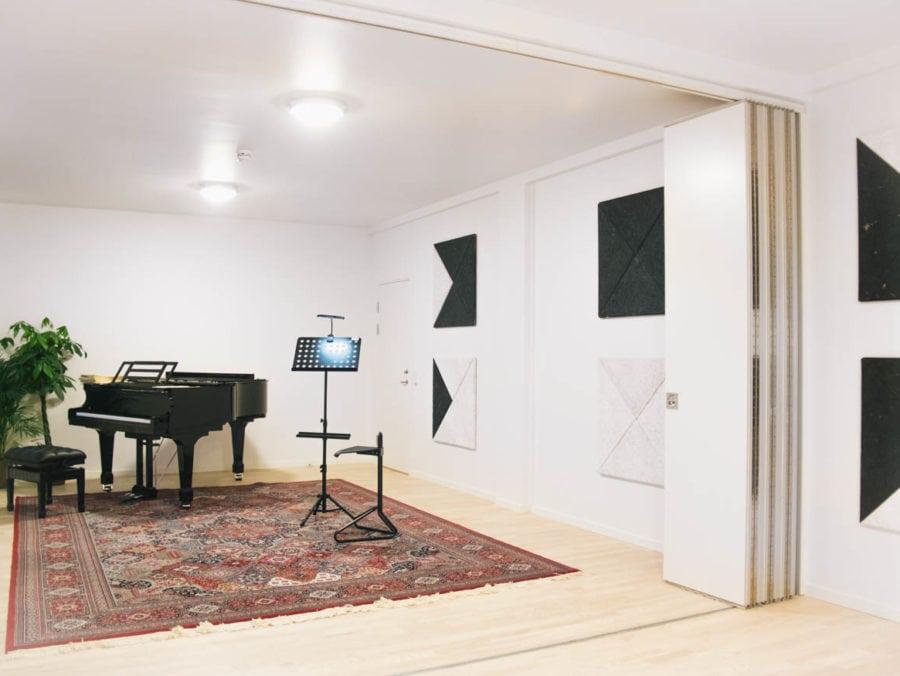 klassisk musik øvelokale med god akustik