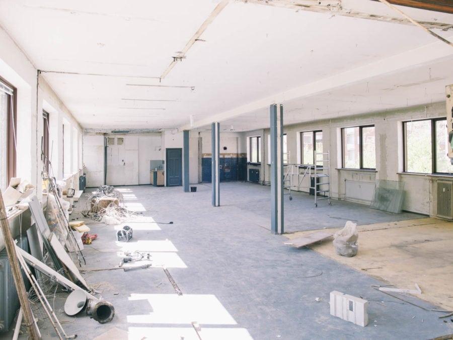 førbillede af kammerklubben ørnevej under restaurereingen